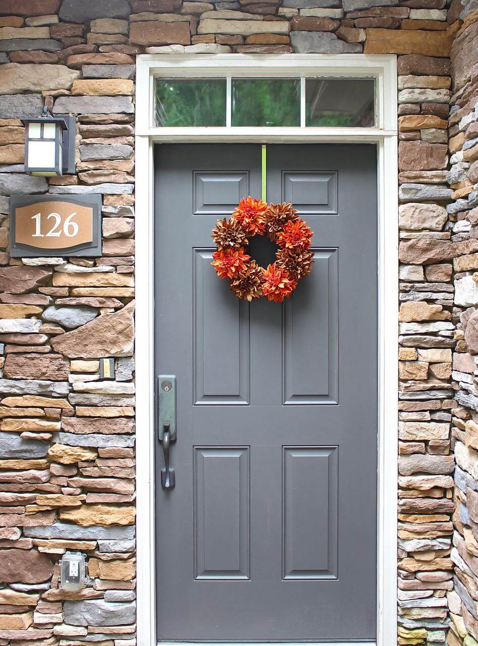 Simple Yet Spectacular Fall Bloom Wreath