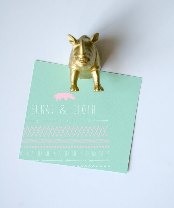 Golden Pop-Out Animal Magnets