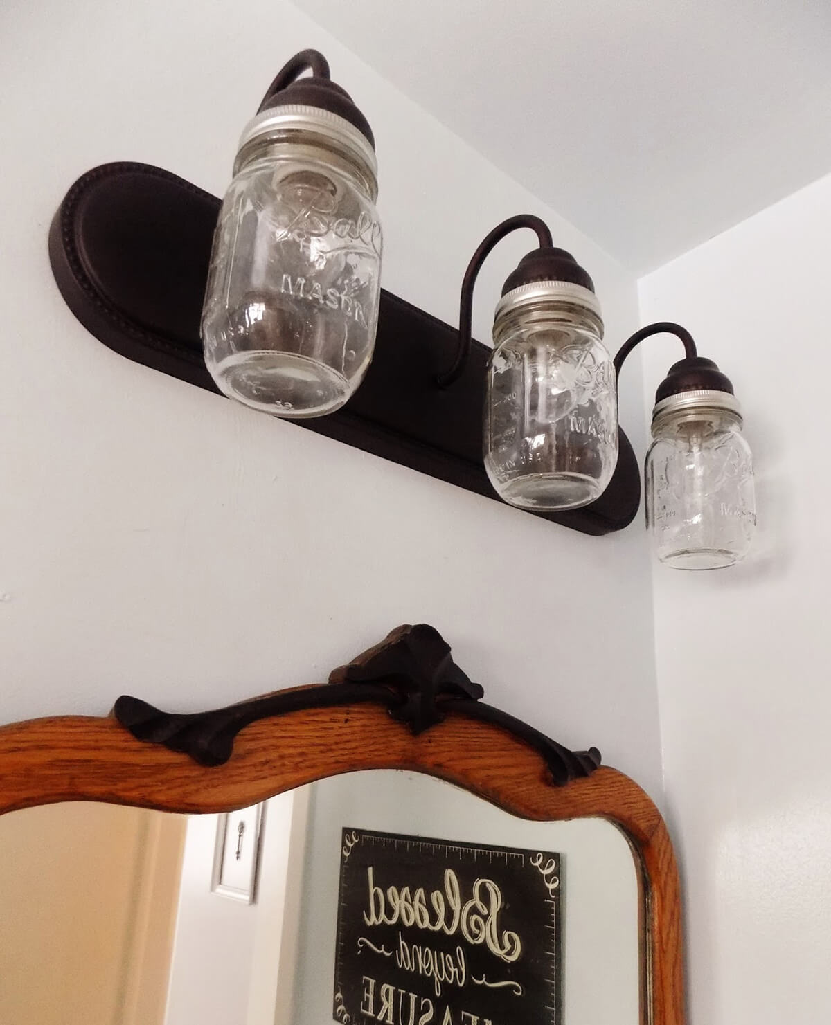 Triple Bulb Industrial Themed Overhead Lamp
