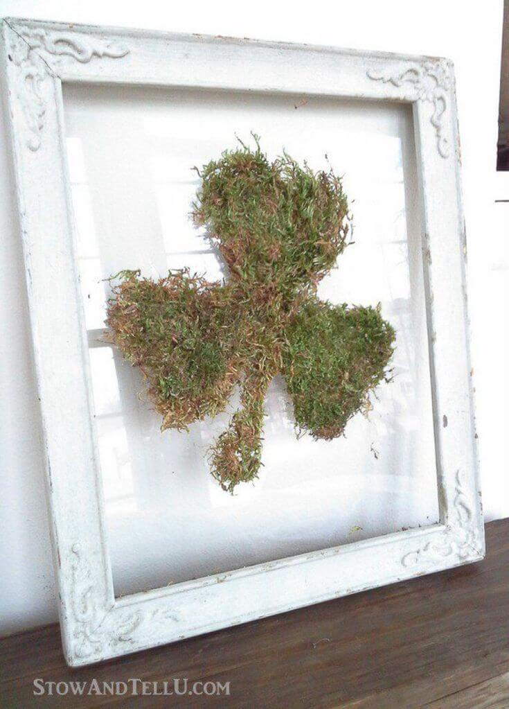 Rustic and Wild Framed Moss Shamrock