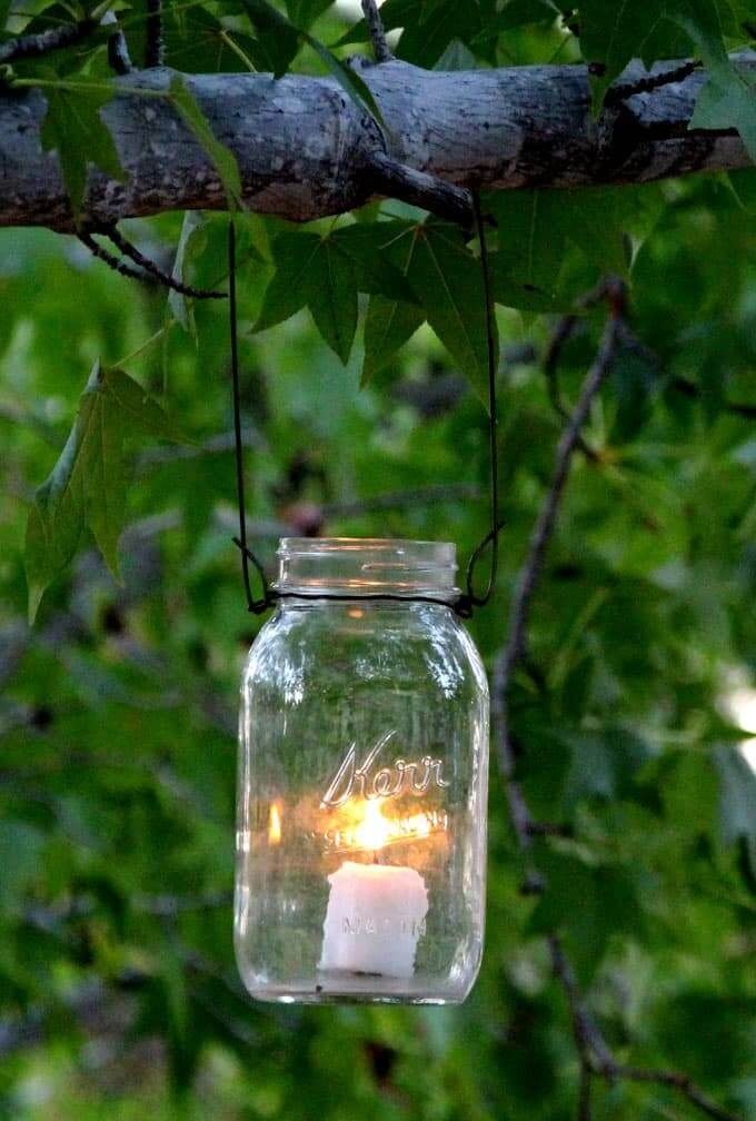 Simple Outdoor Tree Hanging Lamp