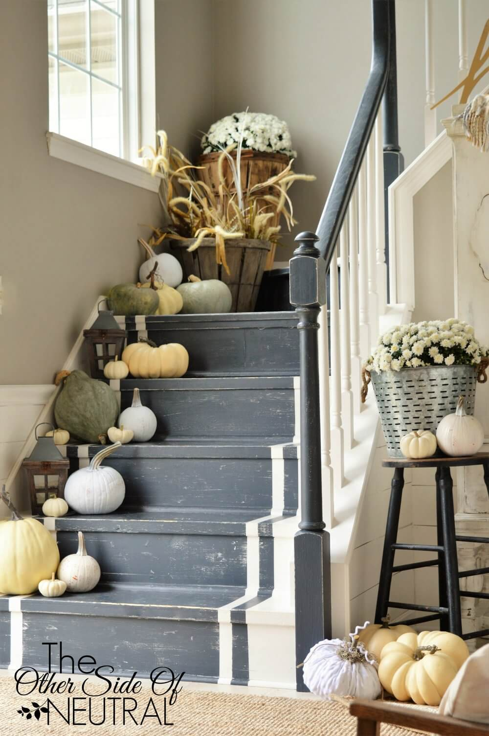 Organic Decorations on the Stairs