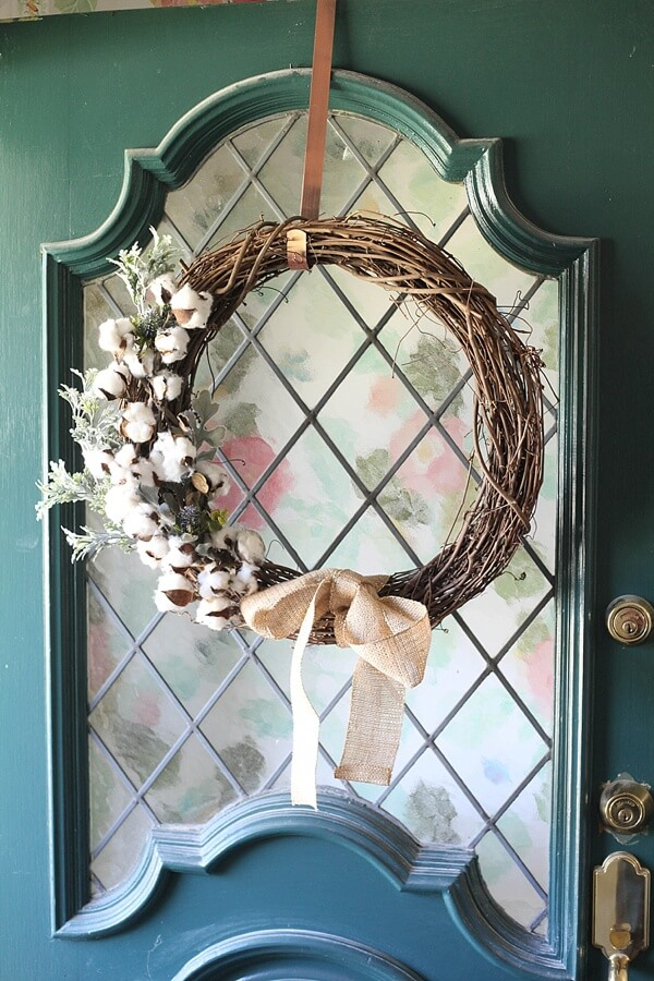 Grapevine Wreaths with Flowers and Leaves