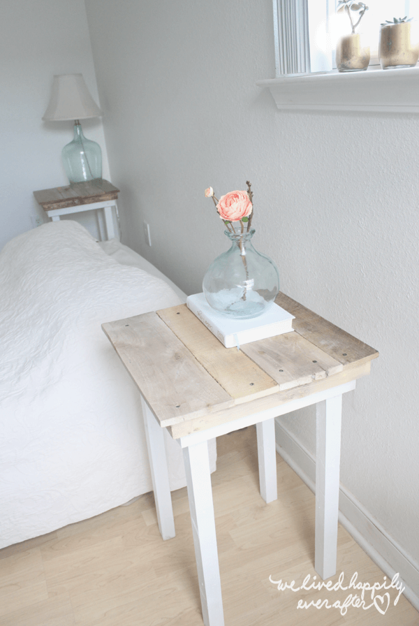 Modernly Rustic Pallet Wood Side Tables