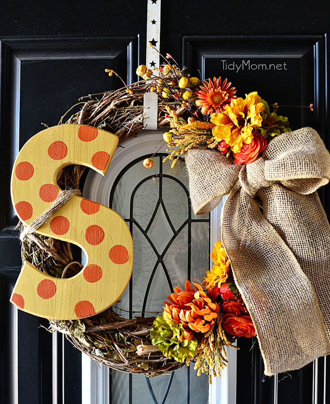 Make Your Fall Wreath Monogram
