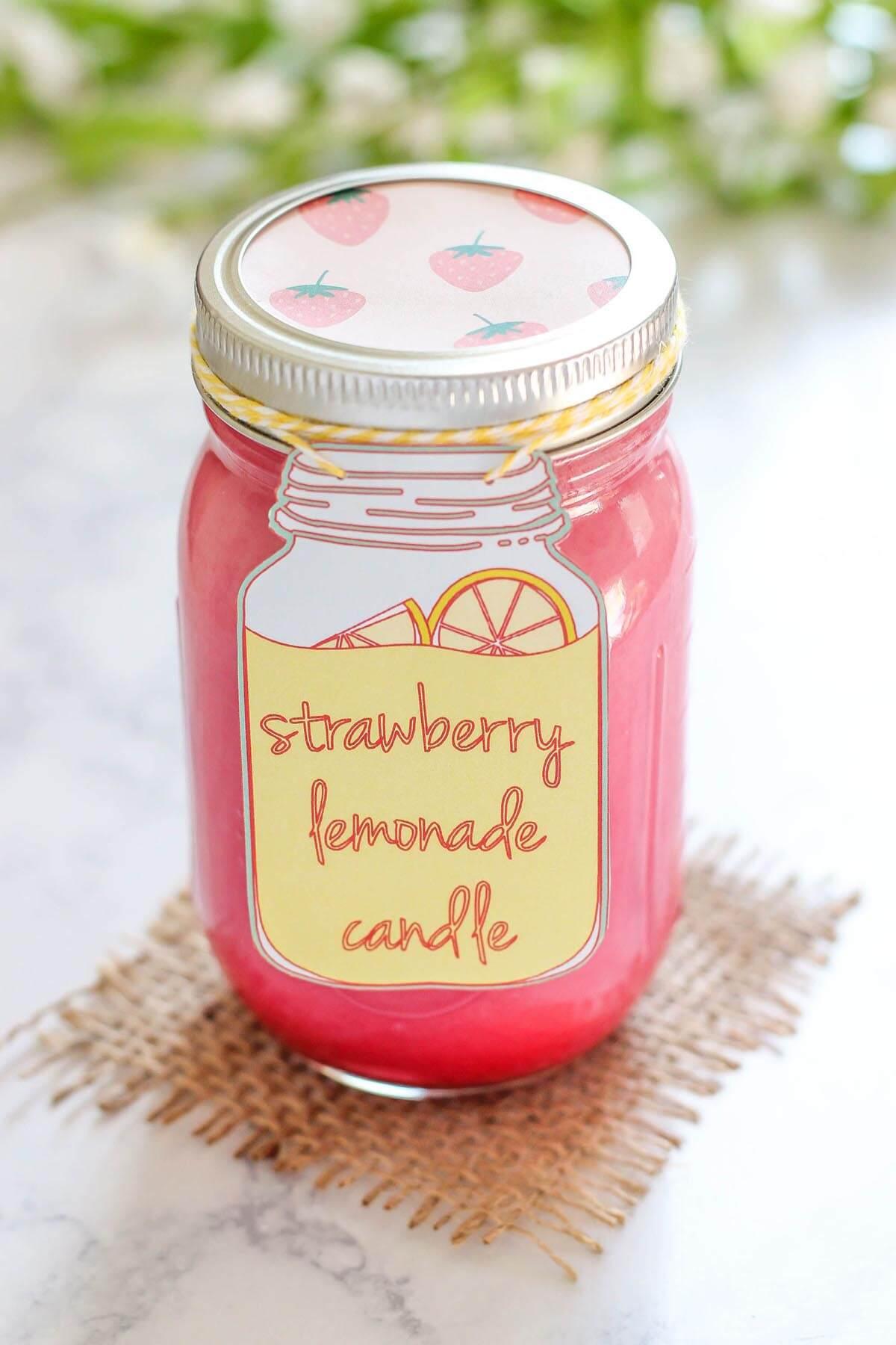 Positively Yummy Strawberry Lemonade Candle