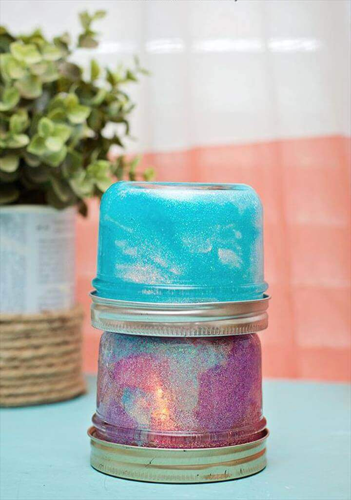 Cute Mini Glitter Stacking Lamps