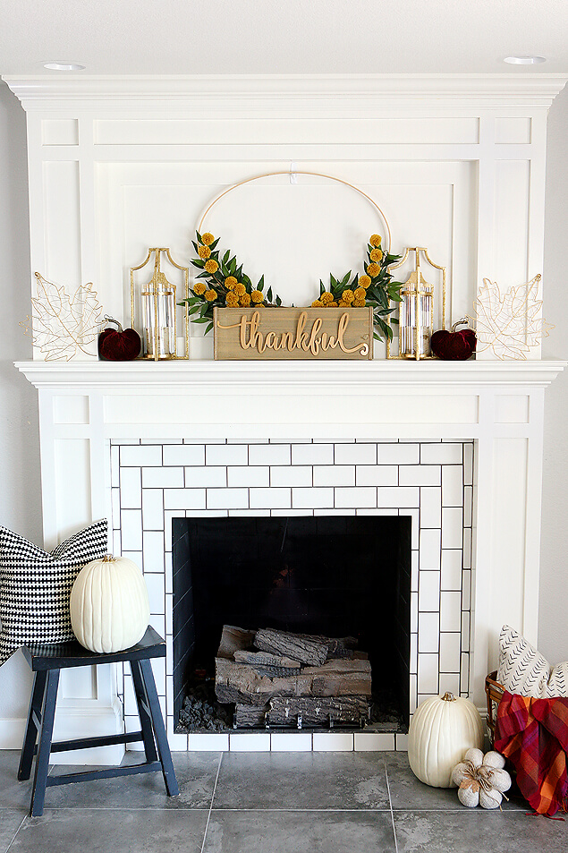 Fall Mantelpiece Arrangements