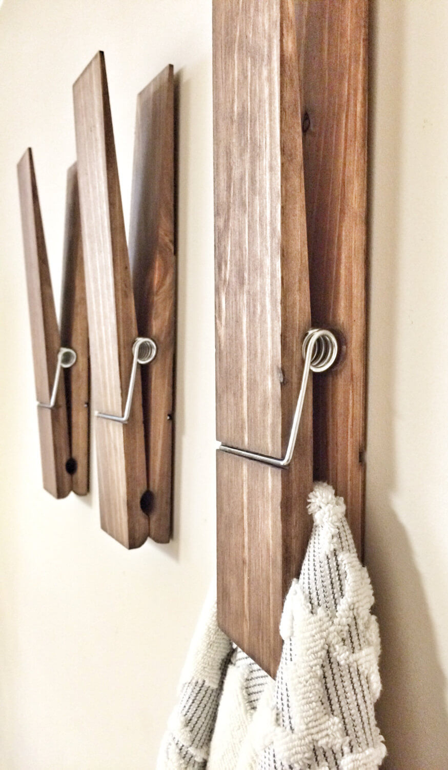 Giant Clothespin Wall Accents