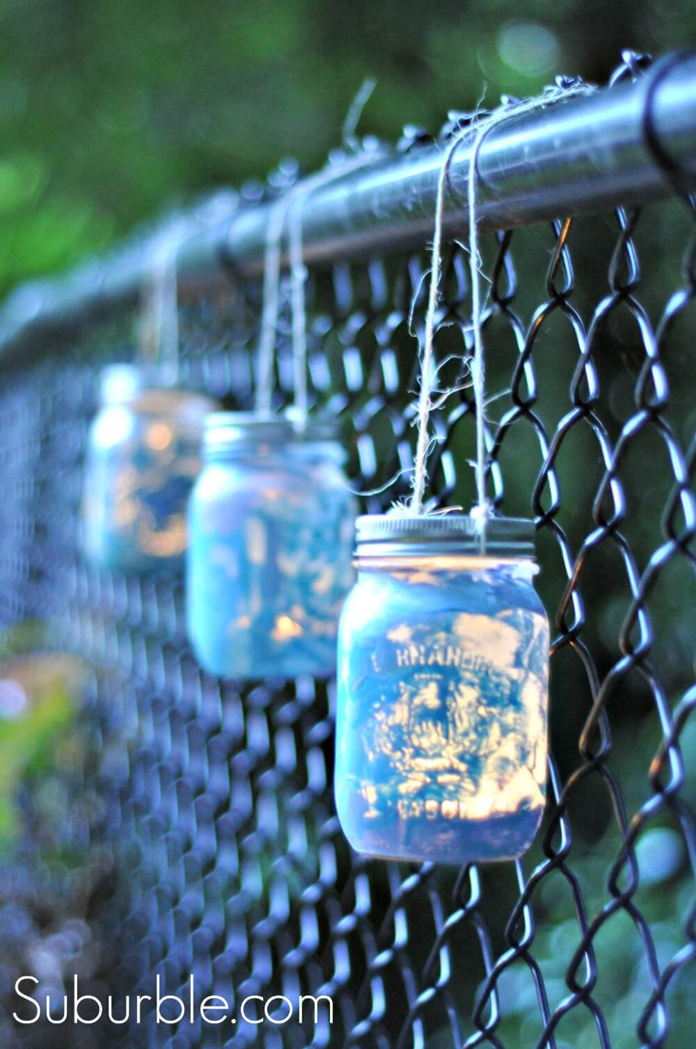 Metallic Galaxy Fence Hanging Lamps