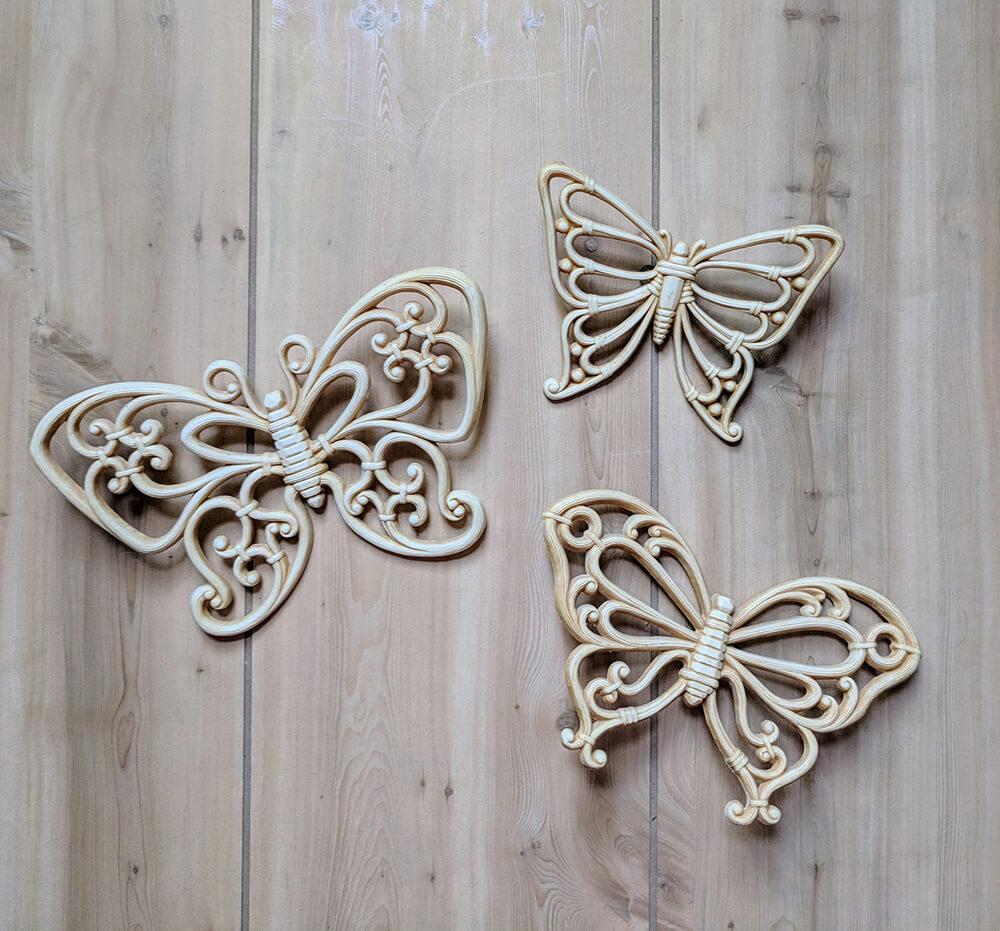 Rustic Wooden Butterflies with Retro Feel