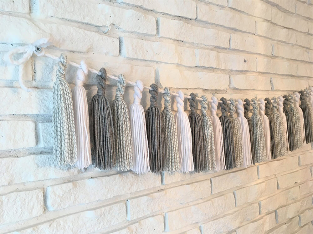 Rustic yet Elegant String of Tassels