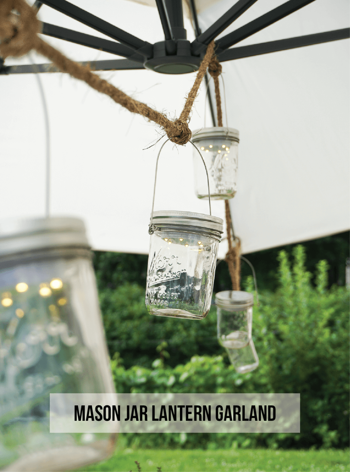 Mini Mason Jar Lantern Garland