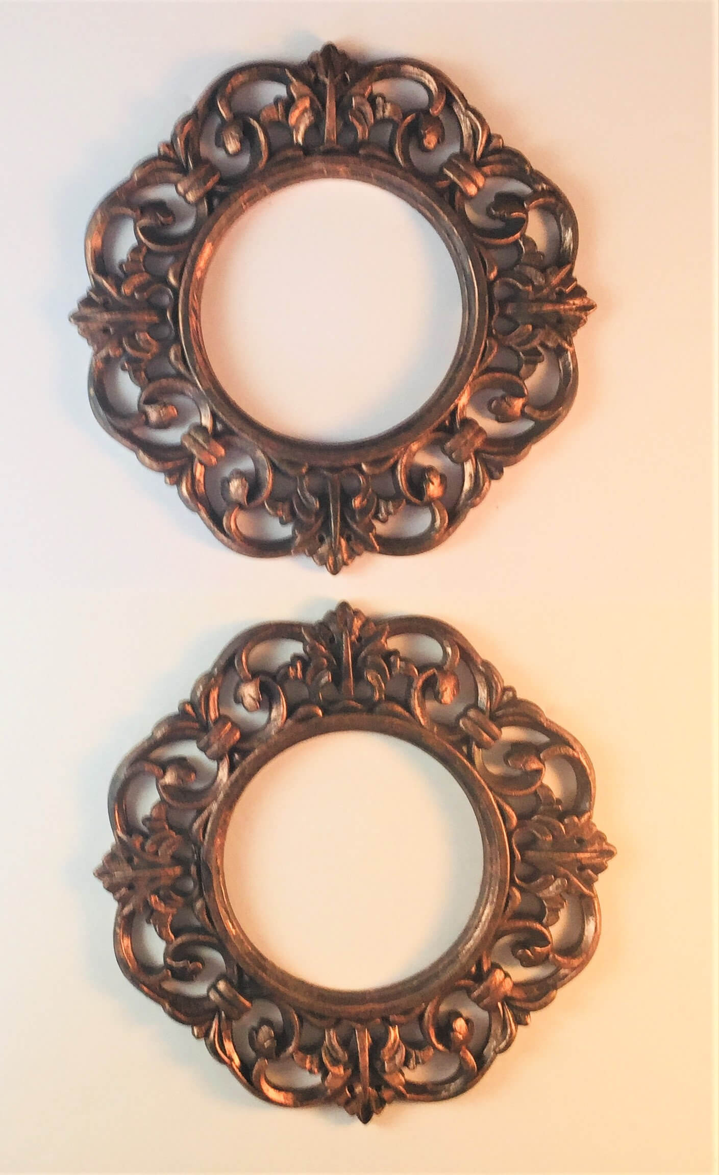 Bronze Picture Frames with Ornate Designs