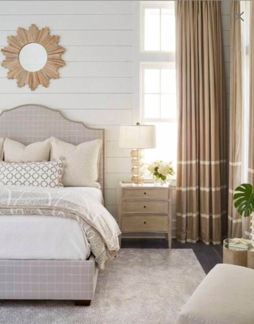 Airy Striped Beige Curtains