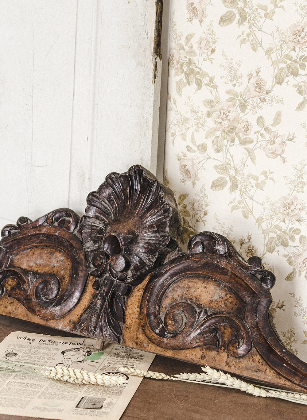 Vintage Mantel Piece with Filigree