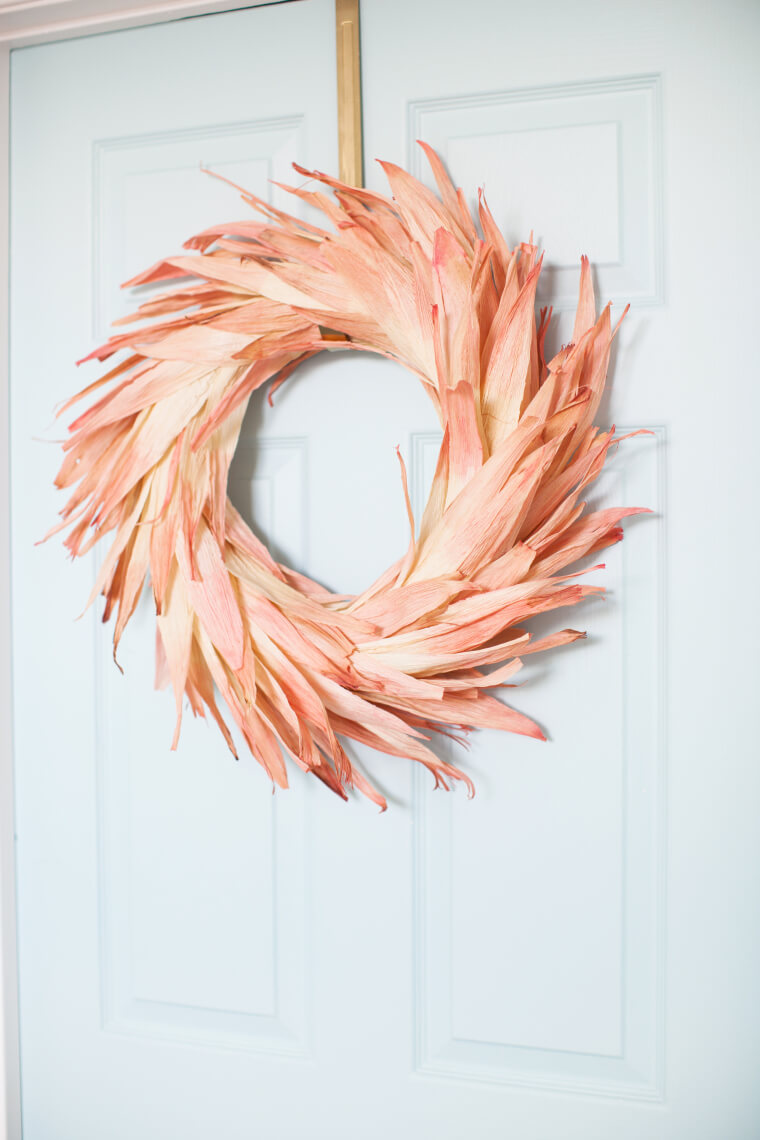 Dyed Corn Husks a Wreath Does Make