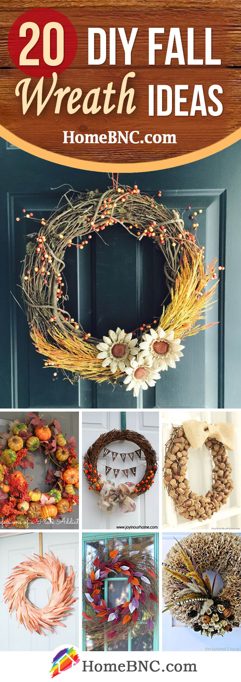 20 Best Diy Fall Wreath Ideas And Designs For 2018