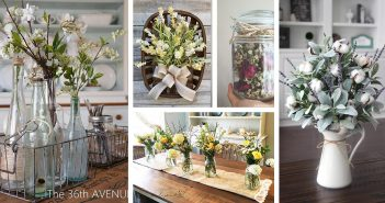 Farmhouse Style Flower Arrangements