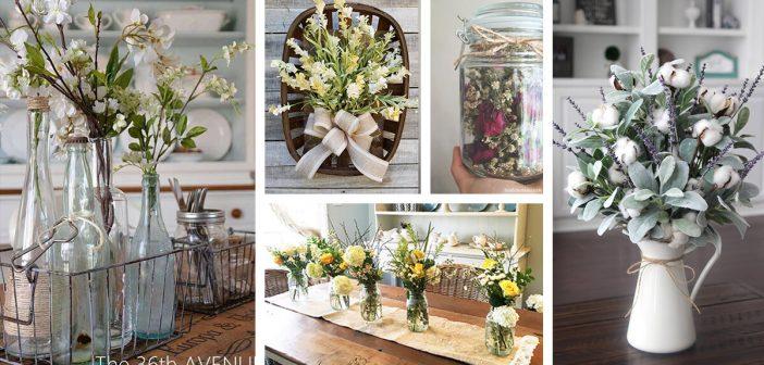 Farmhouse Style Flower Arrangements