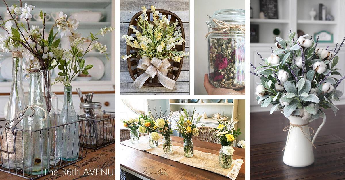 14 Best Farmhouse Style Flower Arrangements Ideas And Designs For 2019