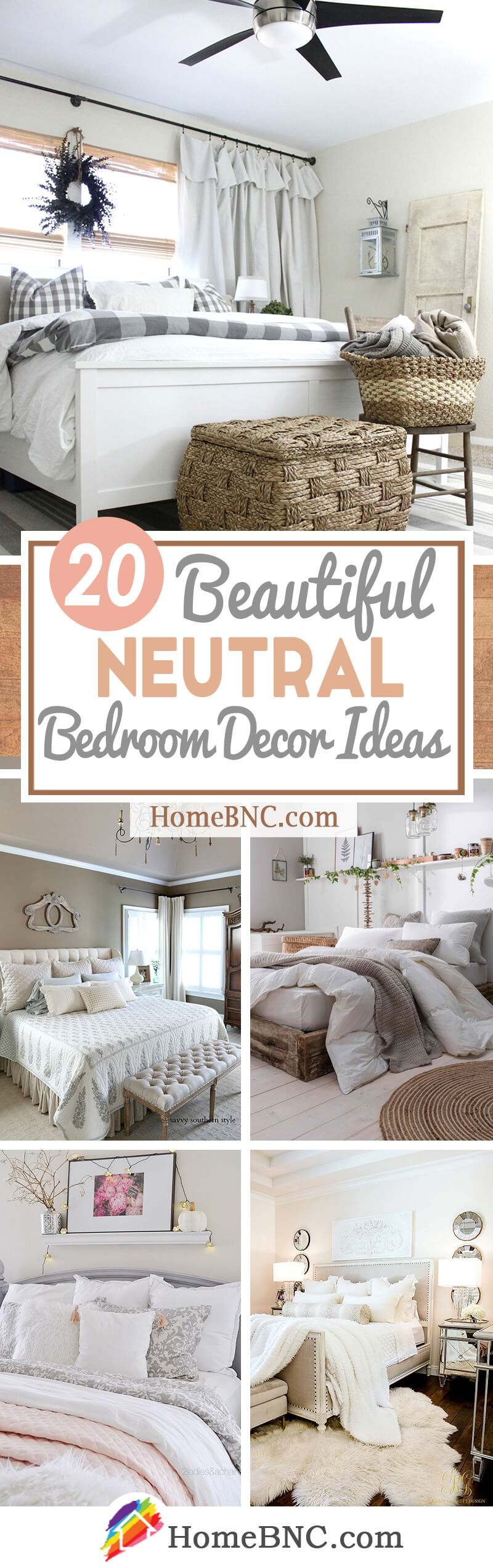 20 Comfy Neutral Bedroom Design And Decor Ideas To Help You Rest Easy