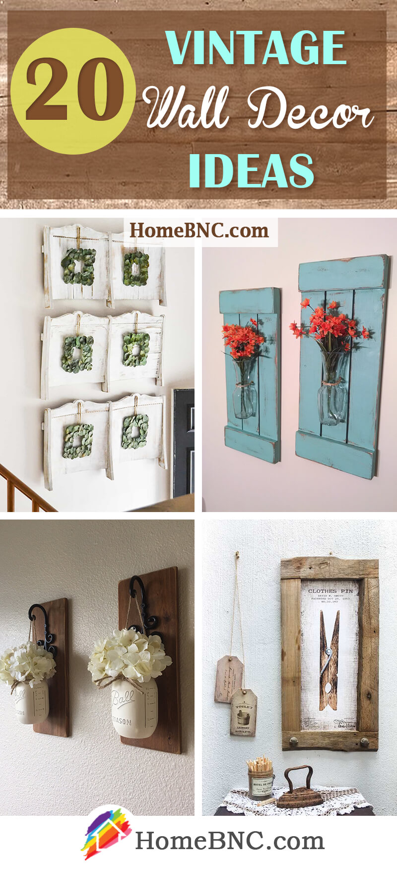 20 Vintage Wall Decor Ideas That Will Make Your Walls Unforgettable