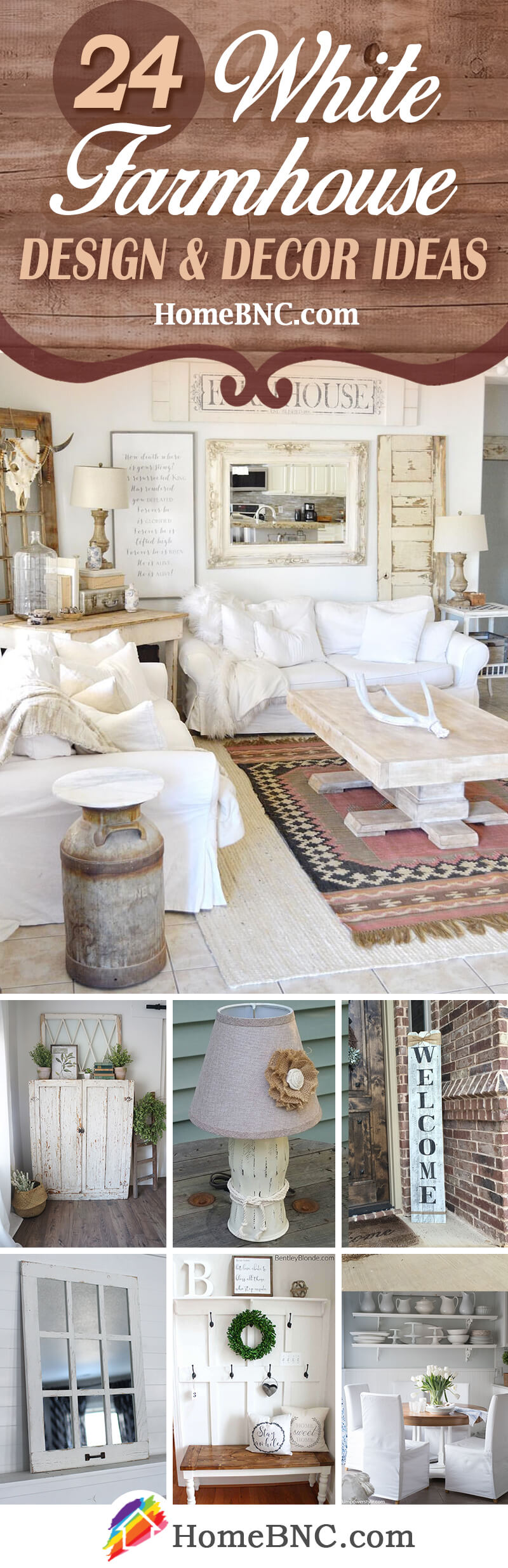 White Farmhouse Decor Ideas