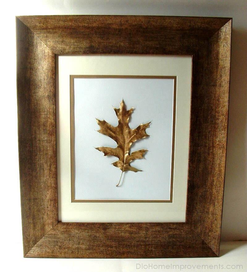 Framed Gold Leaf Shimmers