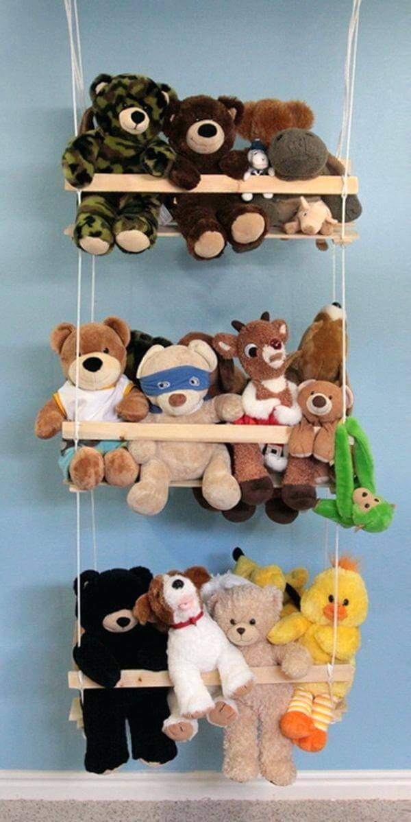 DIY Stuffed Animal Swing Storage