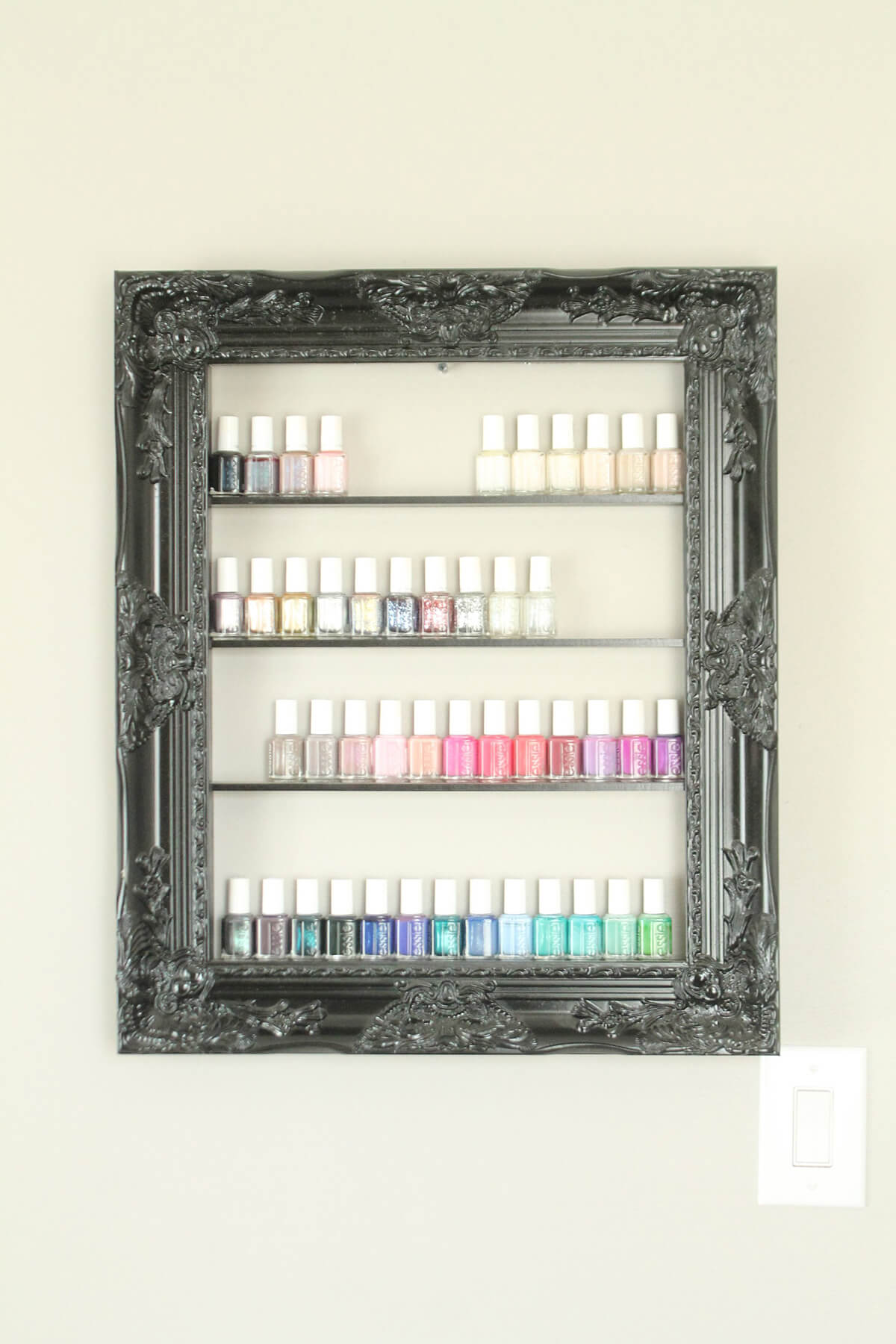 Colorful Nail Polish in an Elegant Frame