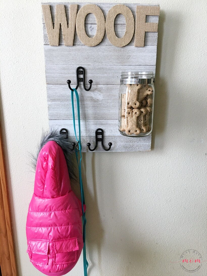 DIY Pet Sign with Treat Jar