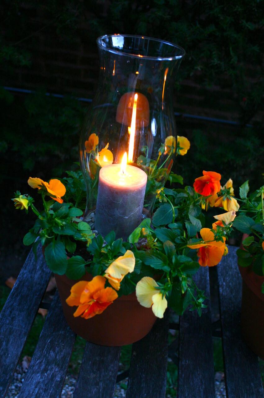 Flower Pot Candle Light Holder