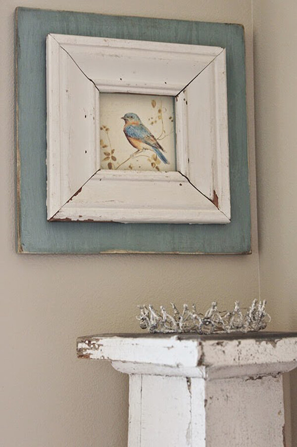 A Rustic Frame for a Beautiful Bird