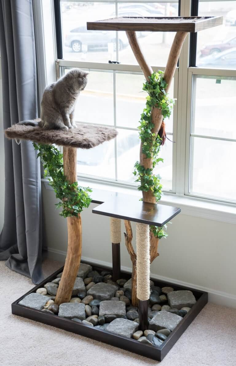 DIY Cat Tree and Scratch Pole