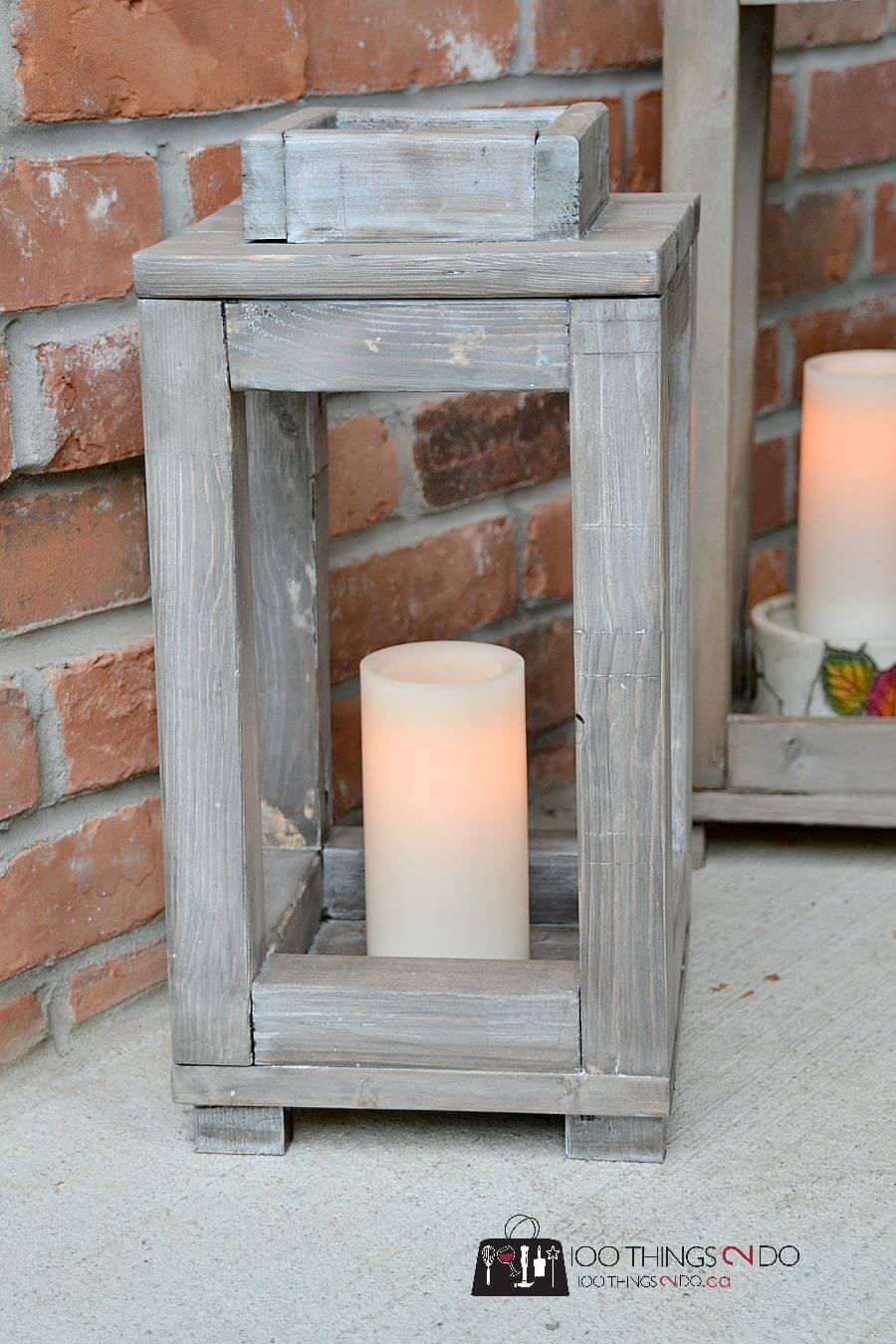 Rustic Style Wooden Outdoor Lantern