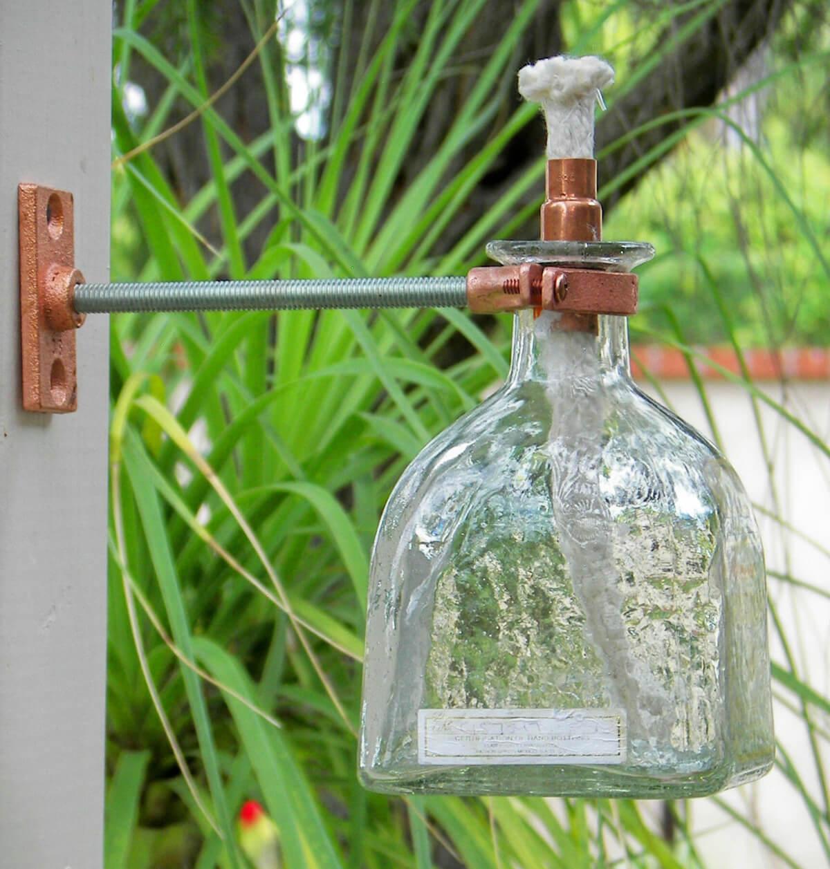 Glass Bottle Side Wall Outdoor Lamp