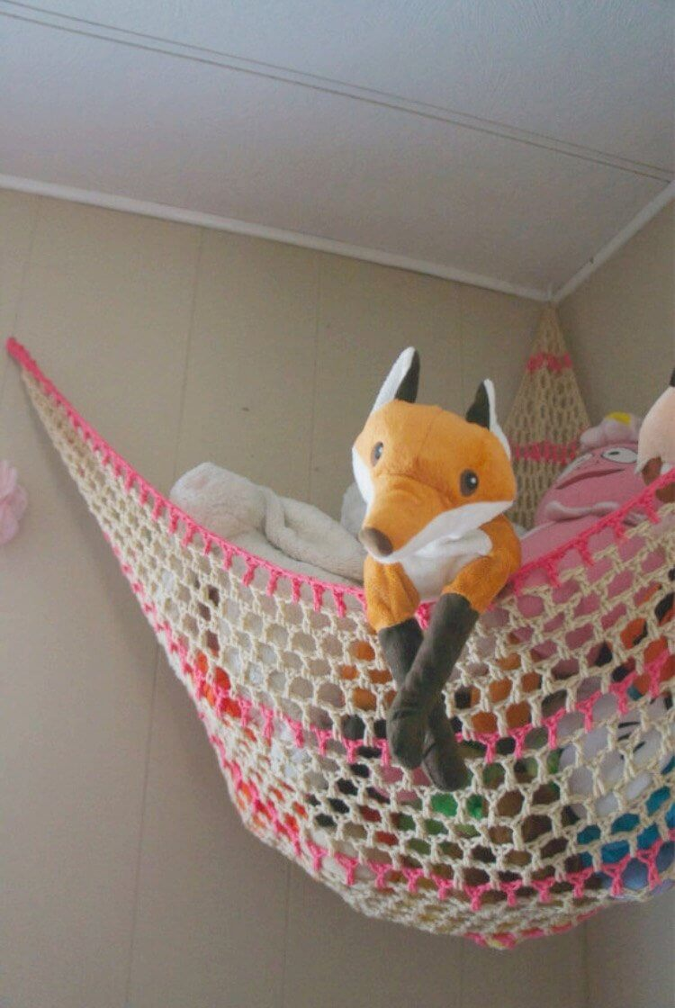 Customizable Stuffed Animal Hammock Toy Storage