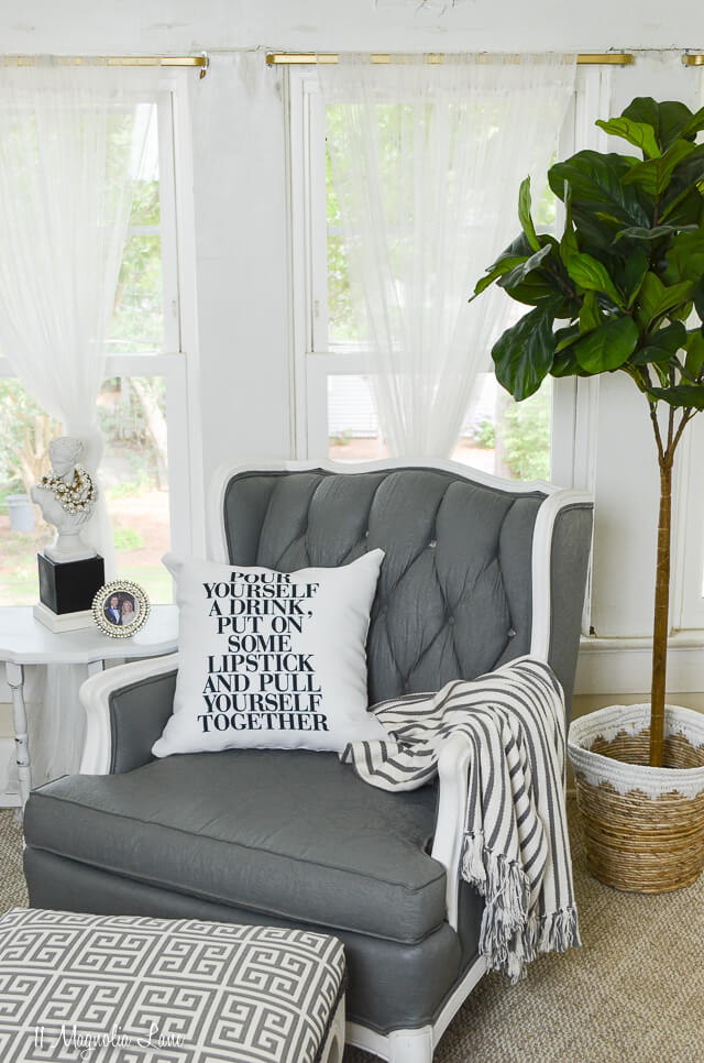 White Printed Plush Throw Pillows
