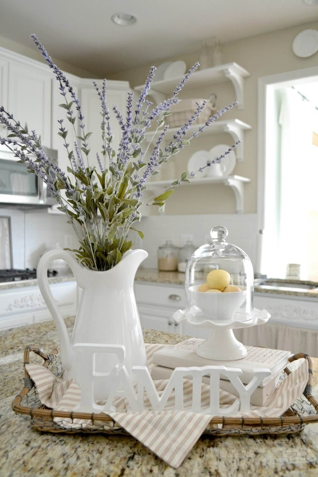 Creamy Whites and Pastels in a Wire Basket