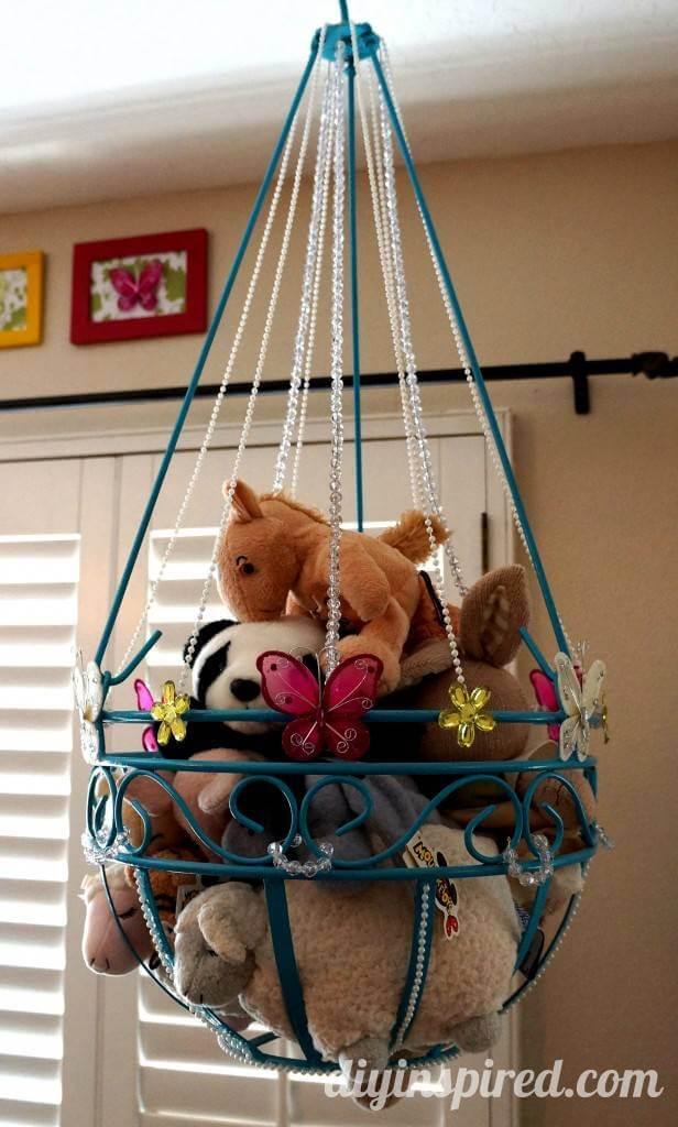 Reused Hanging Planter Toy Storage