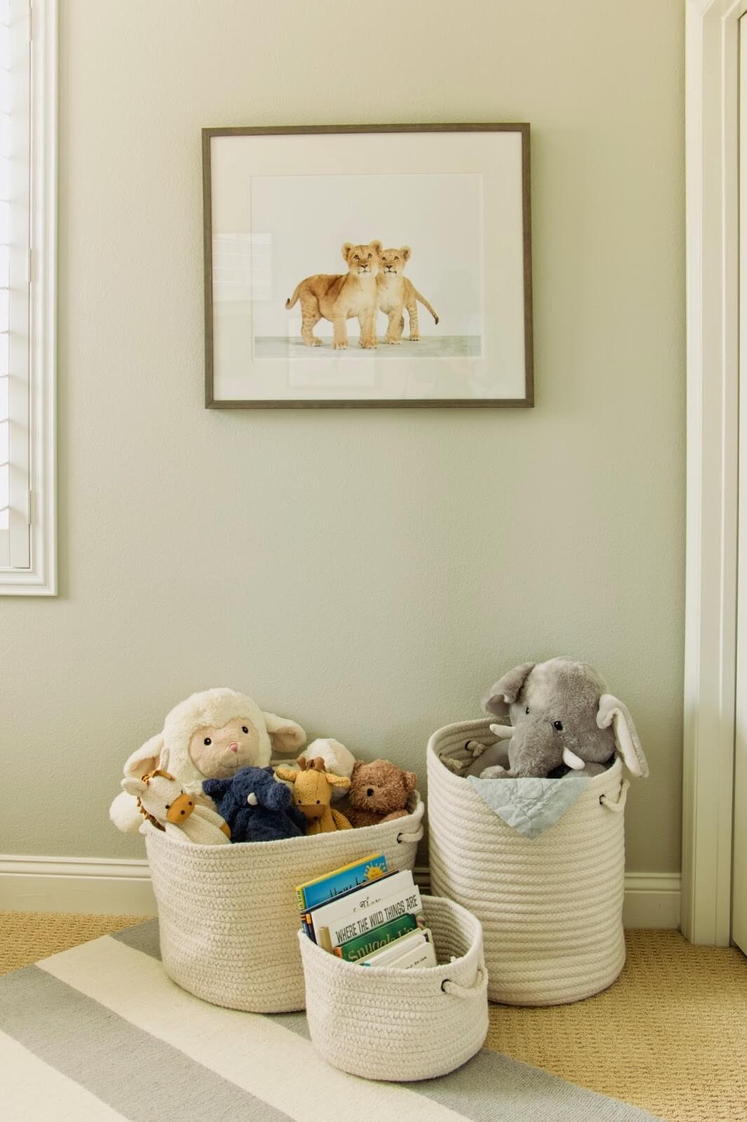 Neutral Colored Toy and Book Baskets