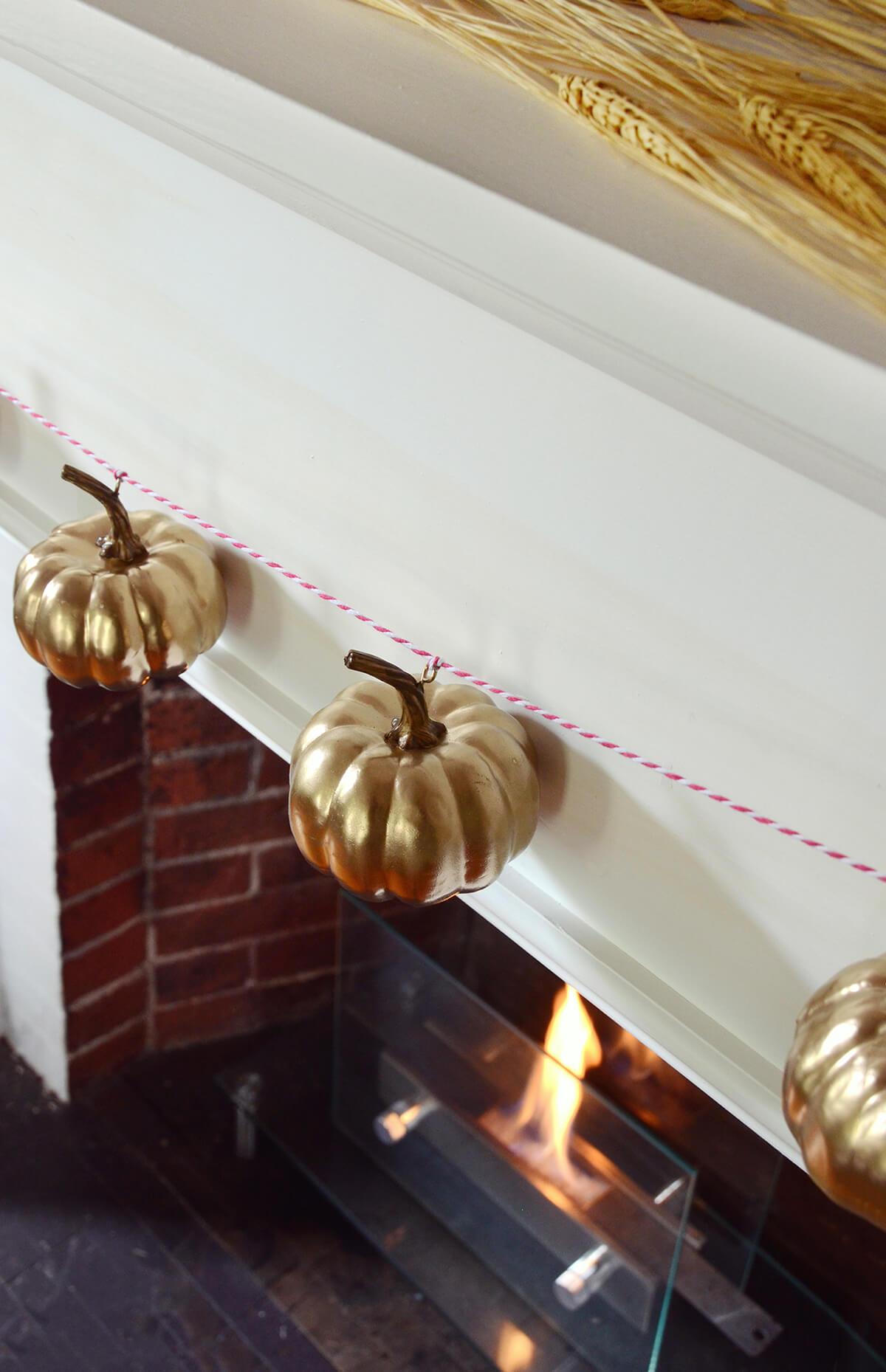 Pumpkins Boasting a Gleaming Gold Coat