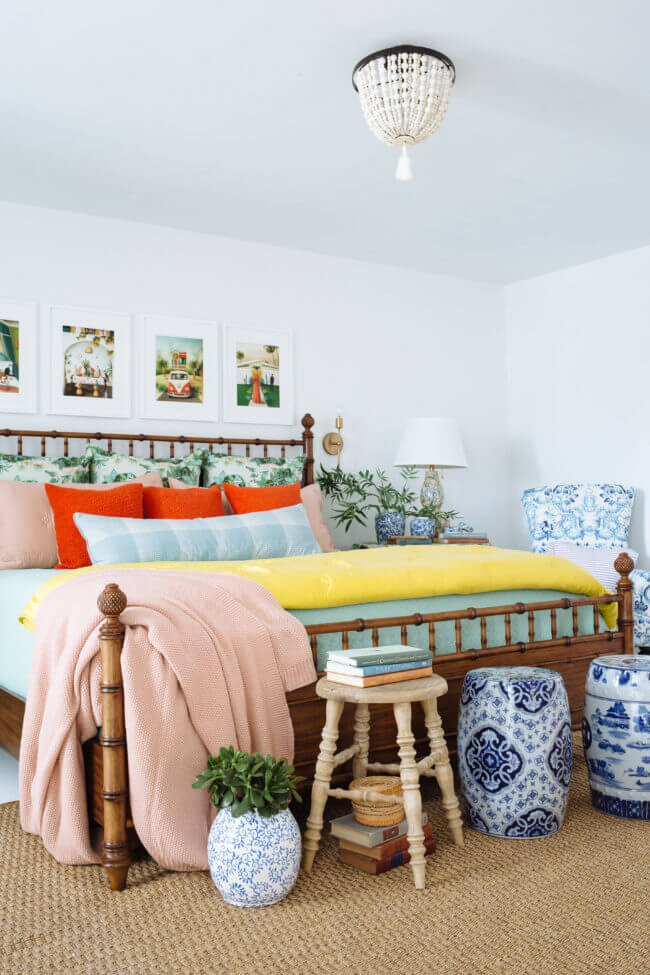 Big, Bright And Colorful Bedroom Decor