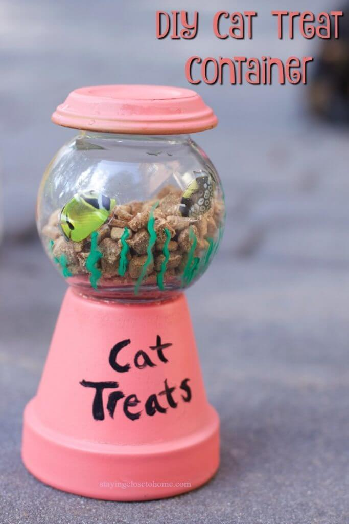 DIY Cat or Dog Treat Holder