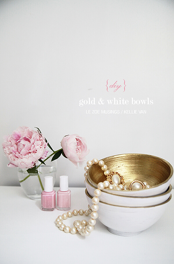 Simply Gorgeous White and Gold Bowls