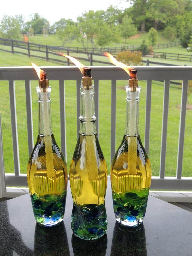 Table Top Bottle Tiki Torches