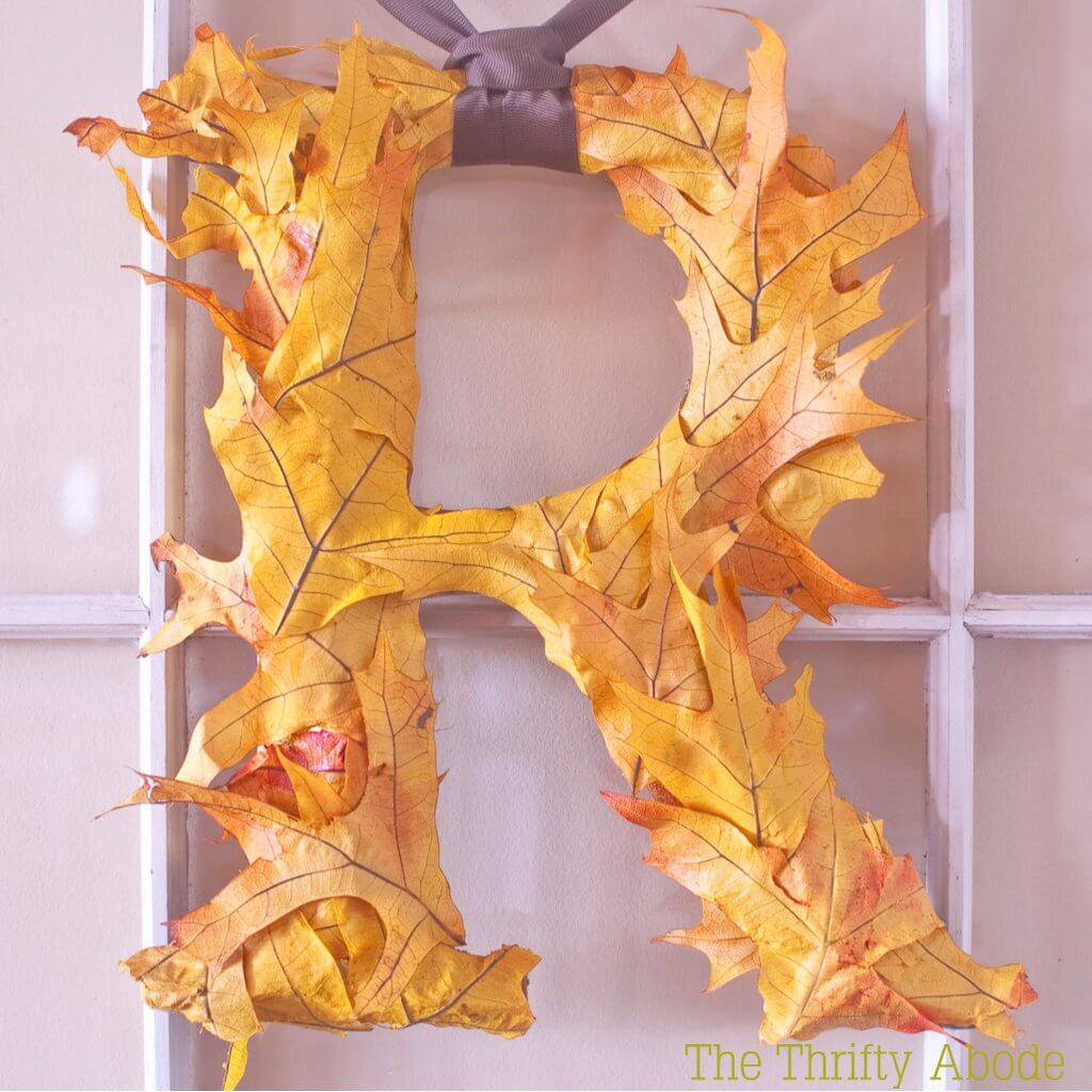 Bright Fall Leaf Letter Wrap Door Hanger