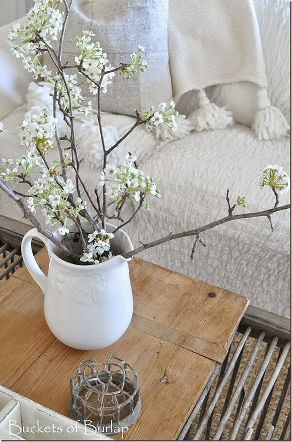 Flowering Branches in a Milk Pitcher