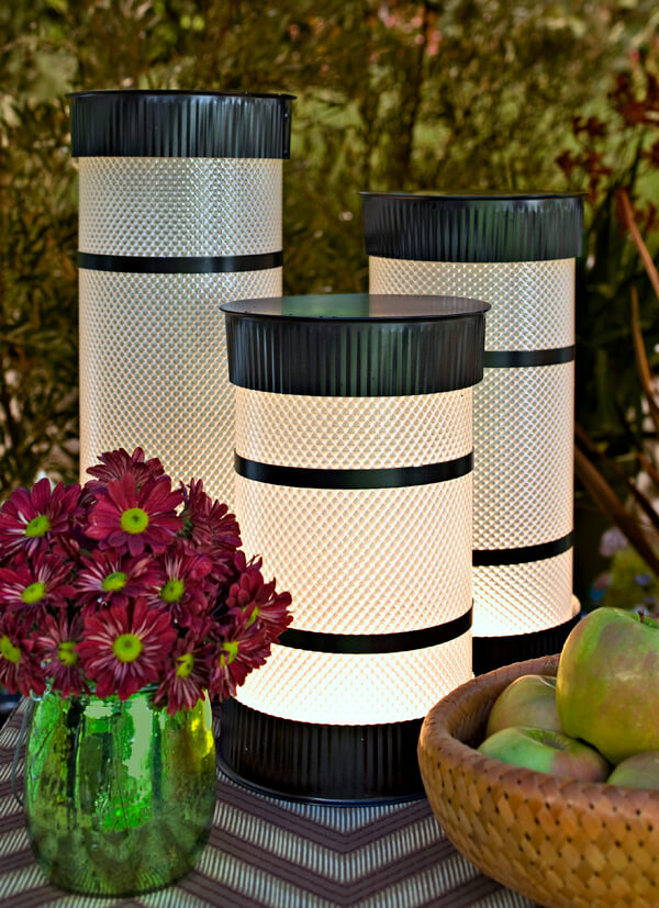 Monochrome Cylinder Table Top Lamps